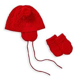Ralph Lauren Baby's Knit Hat& Mittens Set