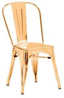 ZUO Elio Two-Piece Goldtone Steel Dining Chair Set