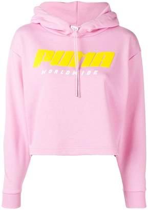Puma cropped logo hoodie