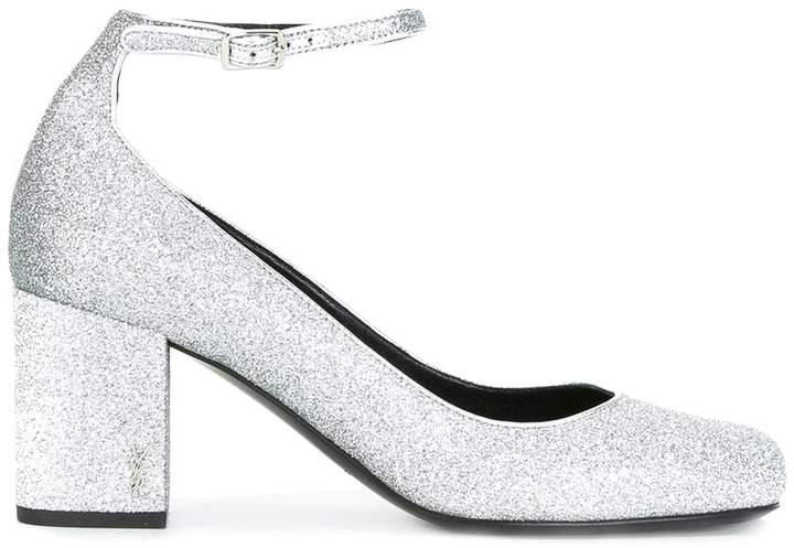 Saint Laurent Babies 90 ankle strap pumps