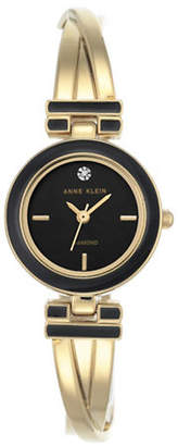 Anne Klein Diamond Dial Collection Goldtone Bracelet Watch