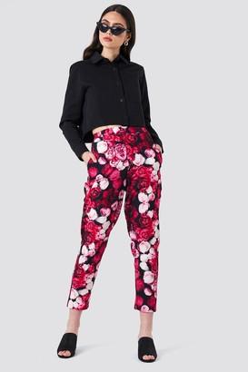 NA-KD Na Kd Printed Straight Pants