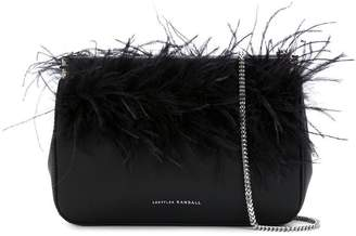 Loeffler Randall Maisie feather-embellished clutch