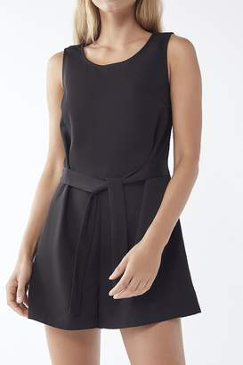 Urban Outfitters Twill Tie-Waist Romper