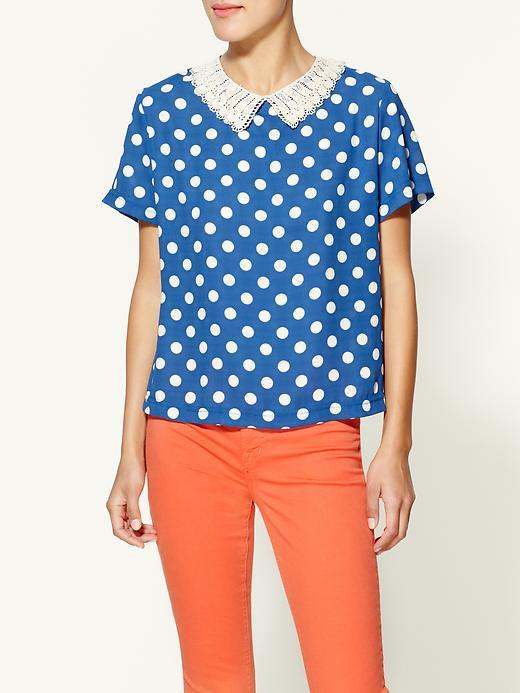 Trinity Dotted Collar Blouse