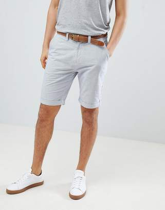 Next Belted Stripe Chino Shorts