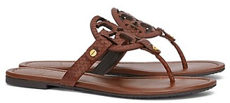 Tory Burch Miller Sandals, Snake-Print Leather $225 thestylecure.com