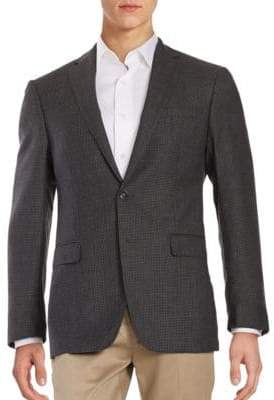 Calvin Klein Micro Checked Wool Blazer