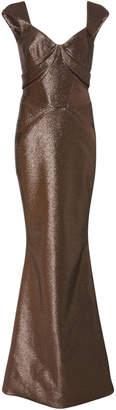 Zac Posen Cap Sleeve Gown