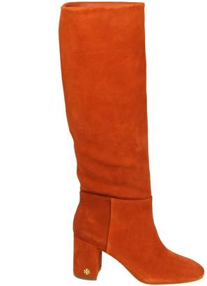 Tory Burch brooke Slouchy Boots In Suede Color Rust