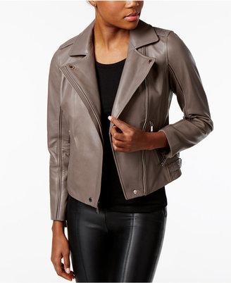 MICHAEL Michael Kors Leather Moto Jacket $400 thestylecure.com