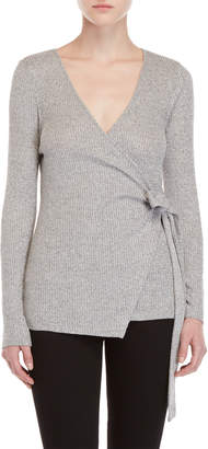 Bobeau Marled Wrap Sweater