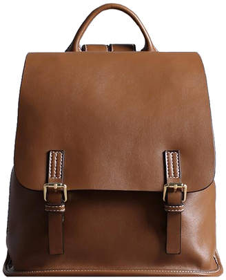 Brix And Bailey Leather & Canvas Strap Backpack
