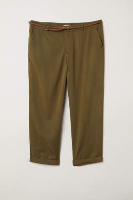H&M H&M+ Lyocell-blend Chinos - Green