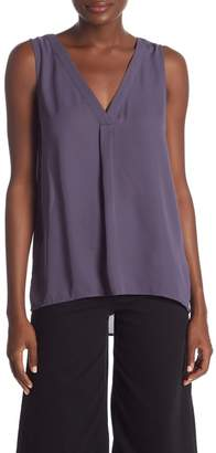14th & Union V-Neck Front Pleat Tank Top (Regular and Petite)