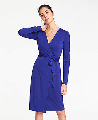f0436795b3 Ann Taylor Matte Jersey Wrap Dress