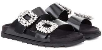Roger Vivier Slidy Viv' leather sandals