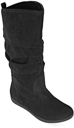 Arizona Womens Kasper Flat Heel Wide Calf Slouch Boots