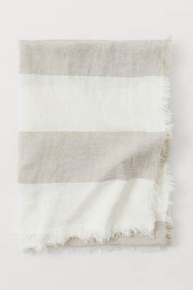 H&M Washed Linen Bedspread - Beige