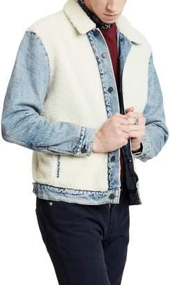 Levi's Faux Shearling Denim Trucker Jacket