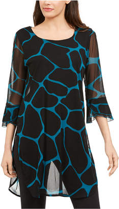 Alfani Printed Sheer Tunic