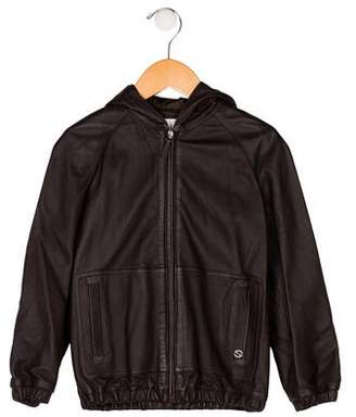 Gucci Boys' Leather Jacket