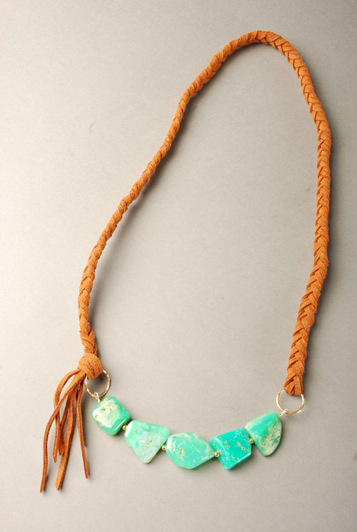 Katie Costello Green Jade Necklace