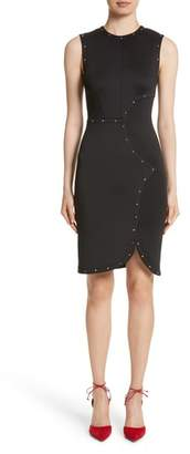 Yigal Azrouel Studded Scuba Sheath Dress