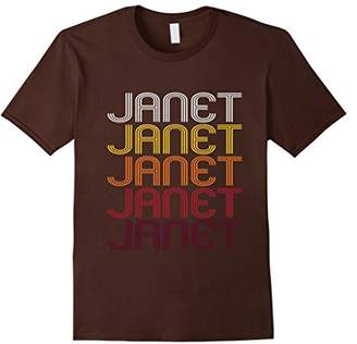 Janet Retro Wordmark Pattern - Vintage Style T-shirt