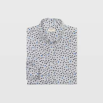 Club Monaco Slim Chambray Triangle Shirt