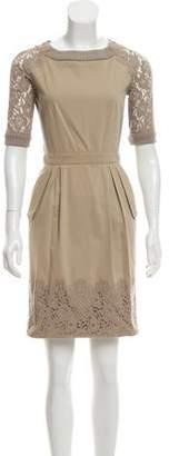 Philosophy di Alberta Ferretti Sheath Lace Dress