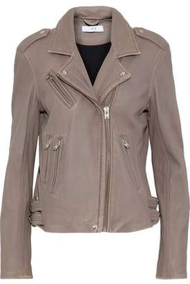 IRO Distressed Leather Biker Jacket