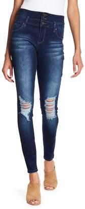 YMI Jeanswear Jeans 3-Button High Rise WannaBettaButt Skinny Denim