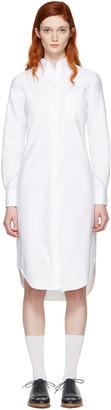 Thom Browne White Classic Shirt Dress $450 thestylecure.com