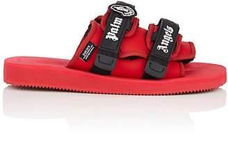 "Palm Angels 8 MONCLER Men's ""Charcoal"" Neoprene Slide Sandals - Charcoal"