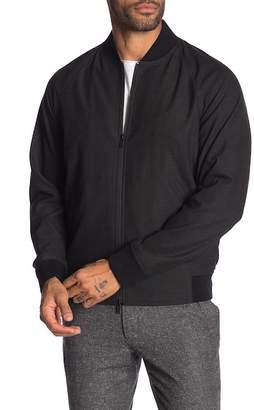 Theory Tech Suiting Knit Bomber Jacket