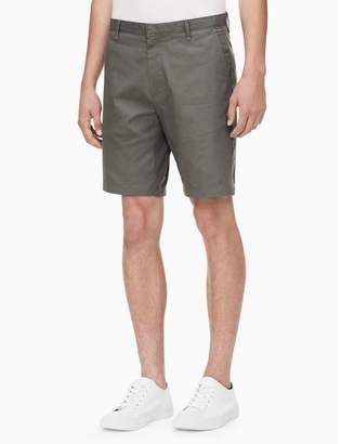 Calvin Klein slim fit micro plaid shorts