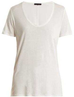 The Row Stilton Jersey T Shirt - Womens - White