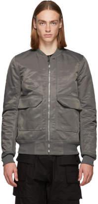 Rick Owens Grey Cop Flight Bomber Jacket