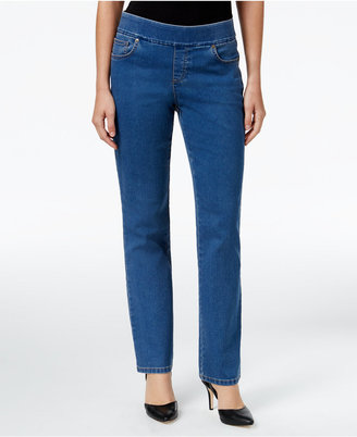 Style & Co. Pull-On Tippler Wash Straight-Leg Jeans, Only at Macy's $49 thestylecure.com