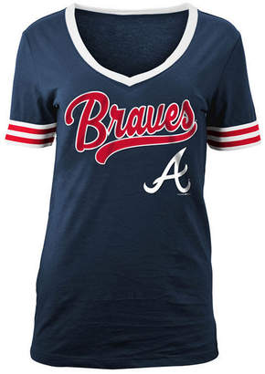 5th & Ocean Women's Atlanta Braves Retro V-Neck T-Shirt