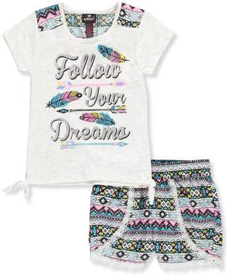Dollhouse Little Girls' Toddler 2-Piece Short Set Outfit