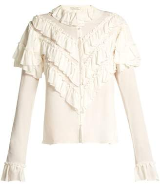 Rodarte - Ruffled Silk Blouse - Womens - Ivory