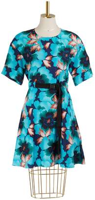Kenzo Silk printed flowers dress
