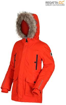 Regatta Girls Proktor Parka Waterproof and Breathable Insulated Jacket - Orange