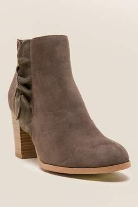 Fergalicious Cashen Ruffle Ankle Boot - Olive