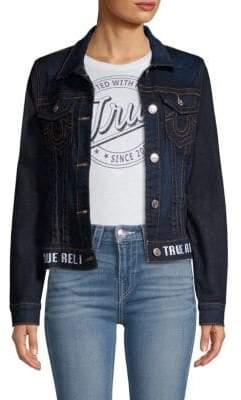 True Religion Cropped Denim Jacket