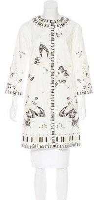 Elie Tahari Embroidered Knee-Length Coat $125 thestylecure.com