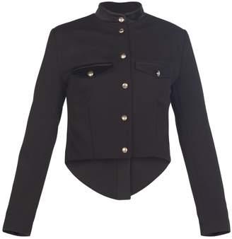 MUZA - Black Wool Military Style Jacket