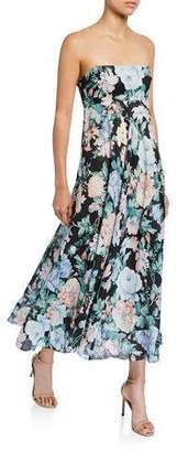 Zimmermann Verity Strapless Floral Long Dress